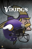 NFL: Minnesota Vikings- Helmet Logo Poster