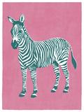 Zany Zebra Giclee Print by Clara Wells