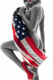 Daveed Benito- All American Wrap Kunstdruck von Daveed Benito