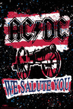 Stephen Fishwick: AC/DC- We Salute You Striped Poster von Stephen Fishwick