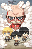 Attack On Titan- Chibi Group Posters