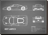 Ferrari Enzo-Grey Bedruckte aufgespannte Leinwand von Mark Rogan