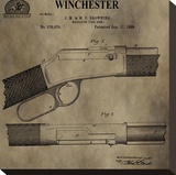 Winchester Magazine Fire Arm, Stretched Canvas Print by Dan Sproul