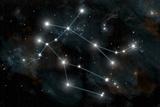 Artist's Depiction of the Constellation Gemini the Twins Poster av Stocktrek Images,