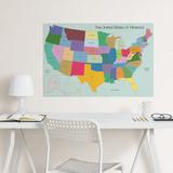 USA Map Coloring Wall Decal Adesivo de parede