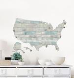 Beach Lover US Map Decal Adesivo de parede