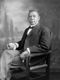 Portrait of Booker T. Washington Sitting in a Chair Reproduction photographique par  Stocktrek Images