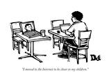 """I moved to the Internet to be closer to my children."" - New Yorker Cartoon Premium Giclee-trykk av Drew Dernavich"