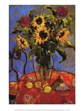 Protea Sunflower & Lemon Poster par Jae Dougall