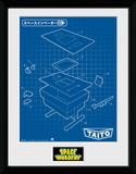 Space Invaders Table Stampa del collezionista