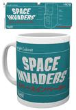 Space Invaders - Diagram Mug Tazza