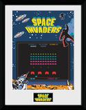 Space Invaders Screen Samletrykk