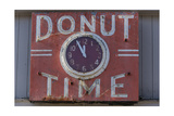 """Donut Timr"" Clock, Close-Up Photographic Print by Henri Silberman"