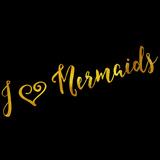 I Love Mermaids Gold Faux Foil Metallic Glitter Quote Pôsteres por  silverspiralarts