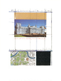 Wrapped Reichstag, Project for Berlin, Collage XIII Affiche par Javacheff Christo