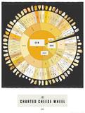 The Charted Cheese Wheel Kunstdrucke von  Pop Chart Lab