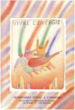 Vivre L'energie Posters av Jean-Michel Folon