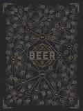 The Diagram of Beer Affiches par  Pop Chart Lab