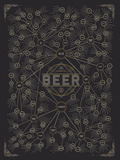 The Diagram of Beer Poster von  Pop Chart Lab