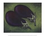 Zwei Auberginen Kunstdrucke von Will Rafuse