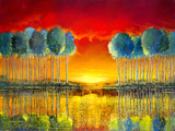 Glowing Review Limited Edition Print on Canvas by Ford Smith