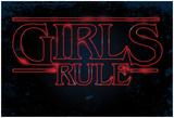Girls Rule Horizontal Night Blue Marquee Plakat