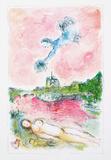 Pink Opera Posters av Marc Chagall