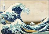 The Great Wave at Kanagawa (from 36 views of Mount Fuji), c.1829 Mounted Print by Katsushika Hokusai