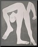 L'acrobate (The Acrobat) Druck aufgezogen auf Holzplatte von Pablo Picasso