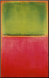 Green, Red, on Orange Mounted Print by Mark Rothko