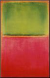 Groen en Rood op Oranje Kunst op hout van Mark Rothko