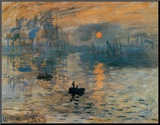 Impression, soleil levant, ca.1872 Kunst op hout van Claude Monet