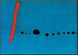 Blauw II Kunst op hout van Joan Miró