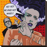 We Dare Not Marry Stretched Canvas Print by Mike Bell