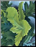 Green Oak Leaves, c.1923 Mounted Print by Georgia O'Keeffe