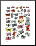 Butterflies, 1955 (Many/Varied Colors) Print på trä av Andy Warhol