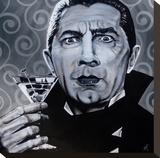 I Never Drink Wine Bedruckte aufgespannte Leinwand von Mike Bell