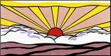 Zonsopgang, ca. 1965 Kunst op hout van Roy Lichtenstein