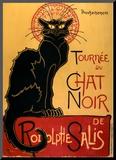 Tournée du Chat Noir, ca. 1896 Montert trykk av Théophile Alexandre Steinlen