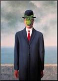 Le Fils de L'Homme (Son of Man) Pohjustettu vedos tekijänä Rene Magritte