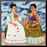The Two Fridas, c.1939 Mounted Print by Frida Kahlo
