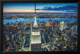 Jason Hawkes- Empire State Building At Night Kunstdrucke von Jason Hawkes