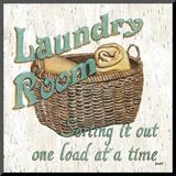 Laundry Room I Monteret tryk af Debbie DeWitt