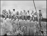 Lunch Atop a Skyscraper, c.1932 Mounted Print by Charles C. Ebbets