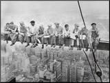 Lunch bovenop een wolkenkrabber, ca.1932 Kunst op hout van Charles C. Ebbets