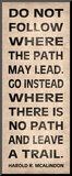 Leave a Trail Stampa montata di N. Harbick