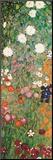 Flower Garden (detail) Mounted Print by Gustav Klimt
