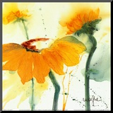 Sunflower V Mounted Print by  Marthe