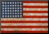 Flag, 1954-55 Mounted Print by Jasper Johns