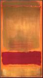 Zonder titel, ca.1949, rood/oranje balk op geel vlak Kunst op hout van Mark Rothko